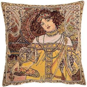 Details Zu Belgian Gobelin Tapestry Cushion Throw Pillow Cover Fall Season By Alphonse Much
