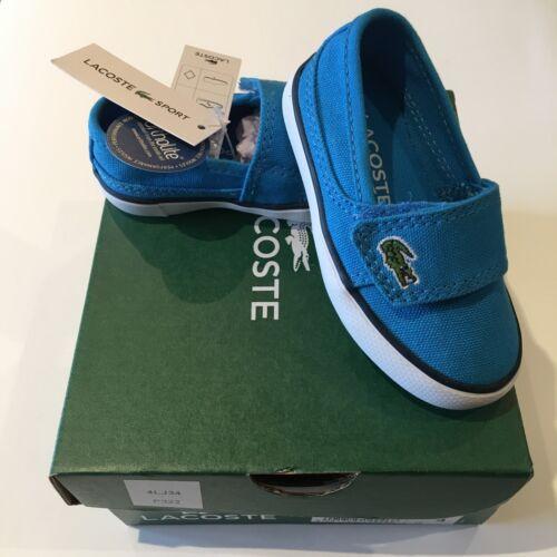 Lacoste Marice Blue UK5 EU21 Infant Pumps BNWT Baby Boys Trainers Shoes RRP £32