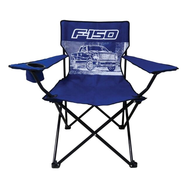 Stupendous Ford F 150 Truck Big Man Camp Chair With Cup Holder Dailytribune Chair Design For Home Dailytribuneorg