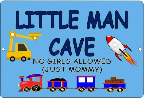 """Little Man Cave Boys Bedroom Door Metal Tin Sign 12/"""" x 8/"""""""
