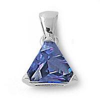 Trillion Cut Tanzanite .925 Sterling Silver Pendant on sale