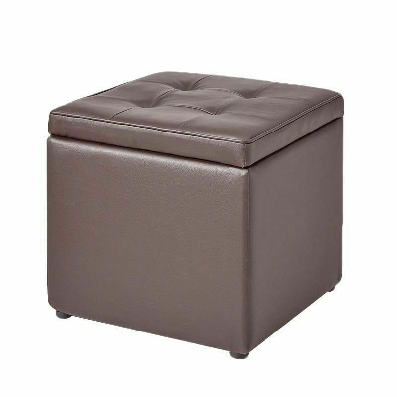 Leather Storage Stool Box Type Modern Minimalist Organizer Home Room Decorations
