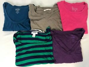 Old-Navy-amp-Gap-Lot-of-5-Womens-Size-M-Shirts-Long-Sleeve-Sweater-Tops-Casual