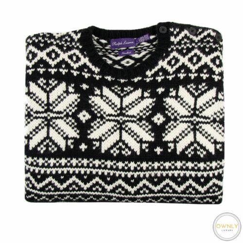 Ralph Lauren Purple Label Black White 100% Cashmer