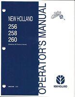 Holland 256 258 260 Hay Rake Operator Manual