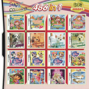 486-in-1-Video-Games-Cartridge-for-Nintendo-NDS-NDSL-NDSi-3DS-2DS-Girl-Games