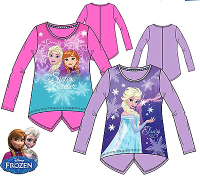Girls Long Sleeves Tunic T.Shirt,FROZEN Characters Crew Neck Tops,4,5,6,8,Years