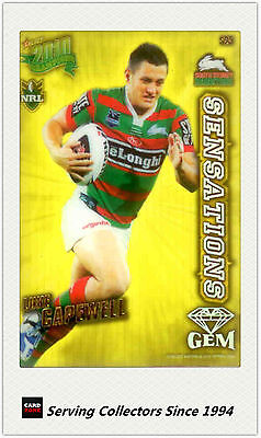 Rabbitohs 2010 Select NRL Champions Sensation Gem Card SG26:Jamie Simpson