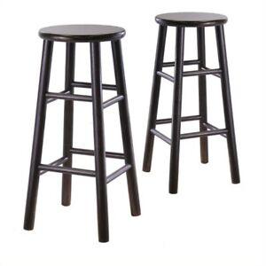 Cool Winsome Wood S 2 Wood 30 Inch Bar Stools Espresso Finish 92780 Ibusinesslaw Wood Chair Design Ideas Ibusinesslaworg