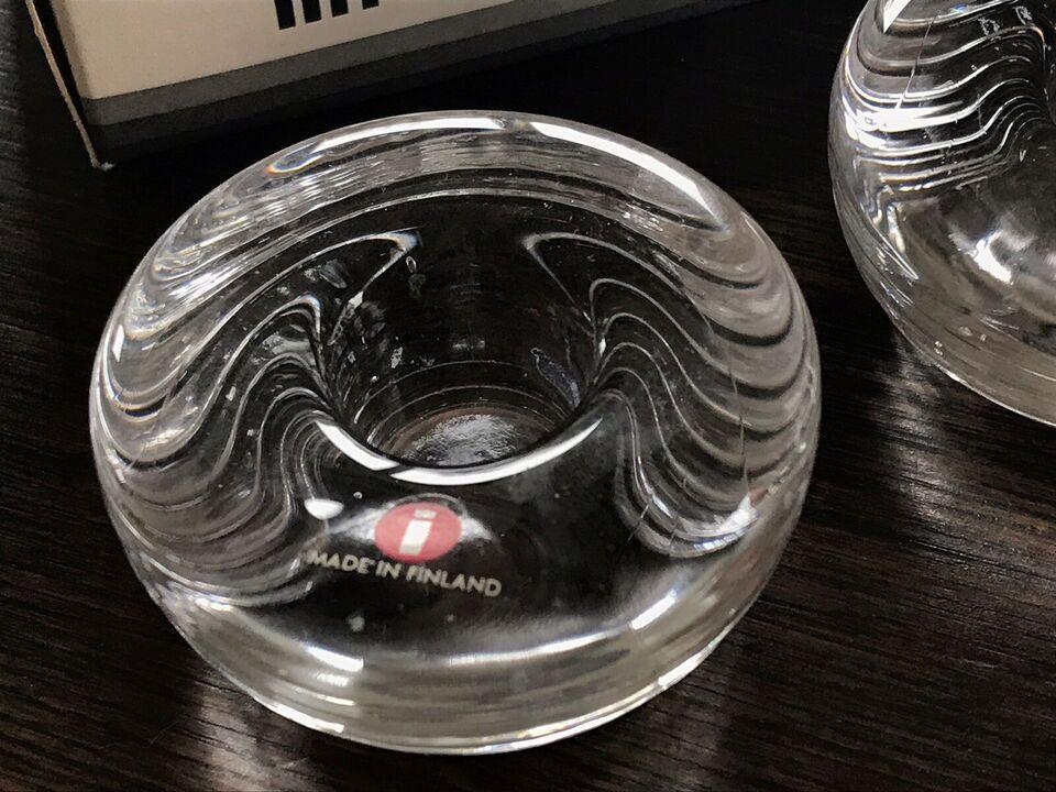 Glas, Lysestage, Iittala
