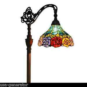 Floor Lamp Reading Light Tiffany Style Stained Glass