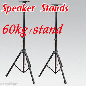 PA-Speaker-Stands-Tripod-Stage-Sound-Stand-Pair-Heavy-Duty-Brand-New