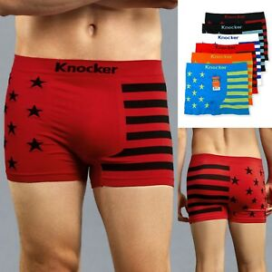 e9620052ae22 6 Pack Men Stars & Stripes Seamless Microfiber Boxer Brief Underwear ...