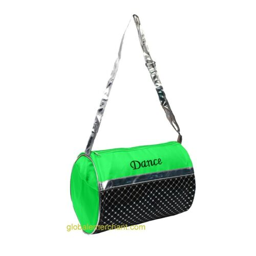 Girls Dance Duffel Bag Silver Sequin Select Color Free Shipping