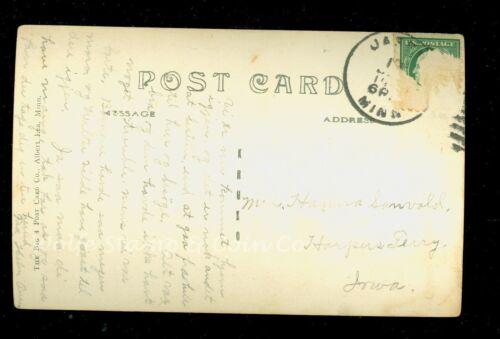 1909 RPPC Norwegian Lutheran Church Jasper MN Real Photo Postcard A9863
