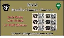 25 Munzee RUM (Reseller Unique Munzee) from D&D Sports