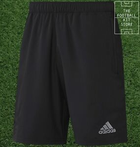 adidas-Woven-Training-Shorts-Official-adidas-Football-Zip-Pockets-All-Sizes