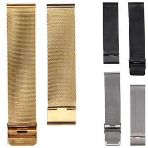 Unisex-einfache-Mode-neue-Milanaise-Edelstahl-20mm-Armbanduhr-Band-Gurt
