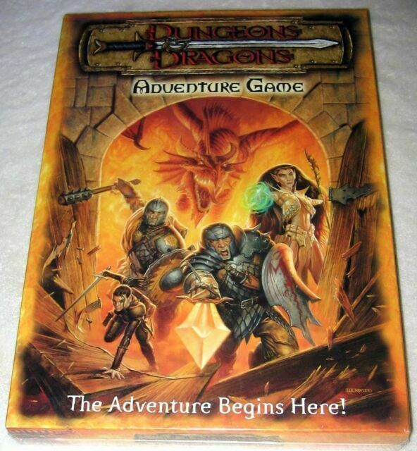 Dungeons Dragons Adventure Board Game Full Sized By Wizards Of The Coast 2000 For Sale Online Ebay