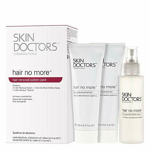 Skin Doctors Hair No More Inhibitor Pack, contains 2x hair removal cream