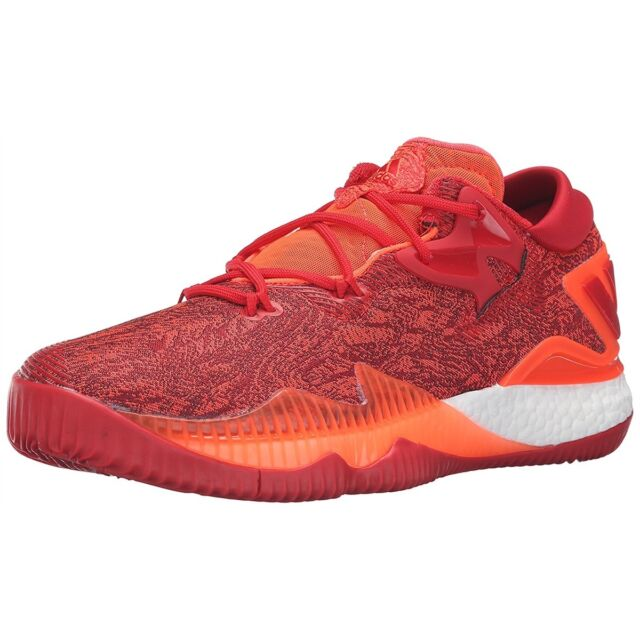 580c1d655 Adidas Men Athletic Shoes Crazylight Boost Low 2016 Basketball Shoes Solar  Red