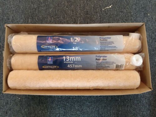 18 inch Roller Covers Sherwin Williams Contractor Series 1//2 inch nap 6