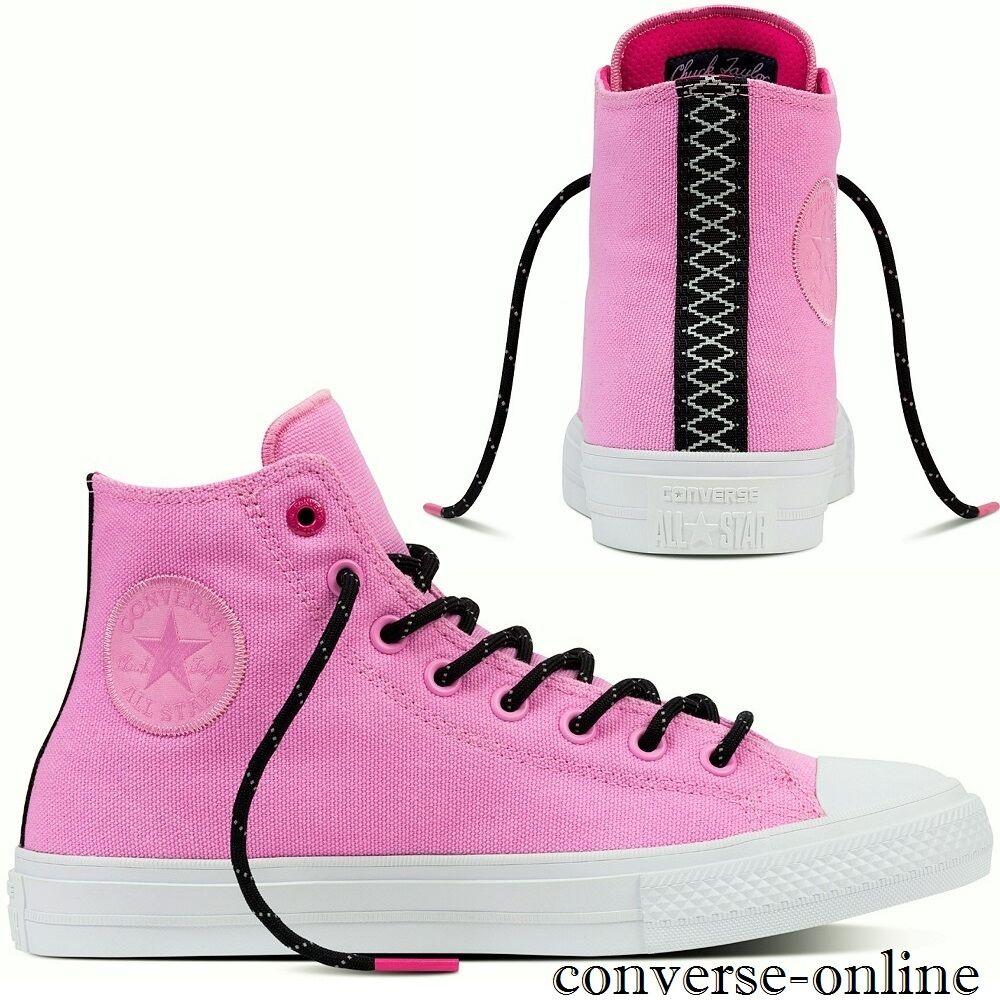 Women's CONVERSE Bll Star CHUCK 11 SHIELD Pink HIGH TOP Trainers Boots SIZE UK 6