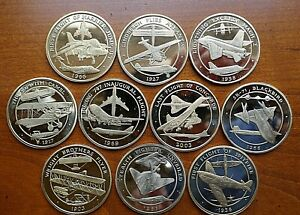 First-Flight-Aircraft-Medallions-by-Tower-Mint-Choose-Aircraft