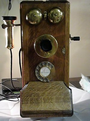 Antique Wall Phone with Hand Crank  - Definitely Not A Reproduction