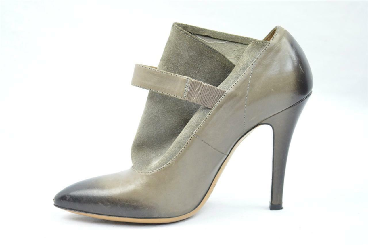 REPLICA MARTIN MARGIELA Grigio Suede&Leather High Heel Pump Ankle Boot Bootie 6-36