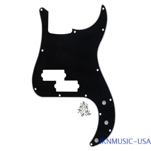 1PC 13 Holes Pickguard w//Screws for STD Precision Bass No Truss Rod 3Ply Black