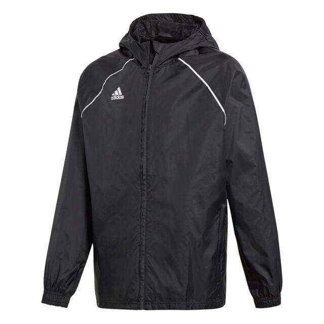 adidas Core 18 Rain Jacket Jacke Kids schwarz 116