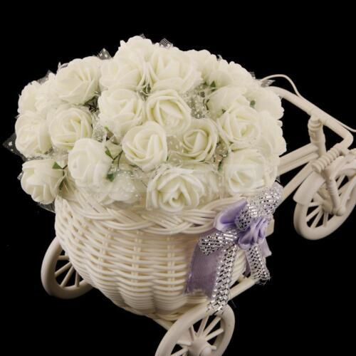 rose en mousse ivoire décoration contenant à dragées mariage baptême  144pcs.