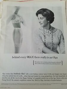 dfba5209ec2f6 1965 Olga suddenly slim women s girdle bra vintage fashion ad