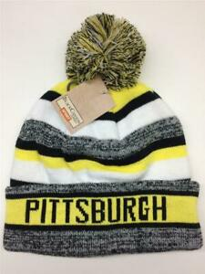 242c0af770b Pittsburgh Winter Knit Ski Hat Beanie Pom-Pom Steelers Penguins ...