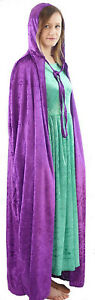 HALLOWEEN-GOTHIC-BUDGET-VELOUR-CLOAK-55-034-DROP-2-COLOURS-TO-CHOOSE-FROM