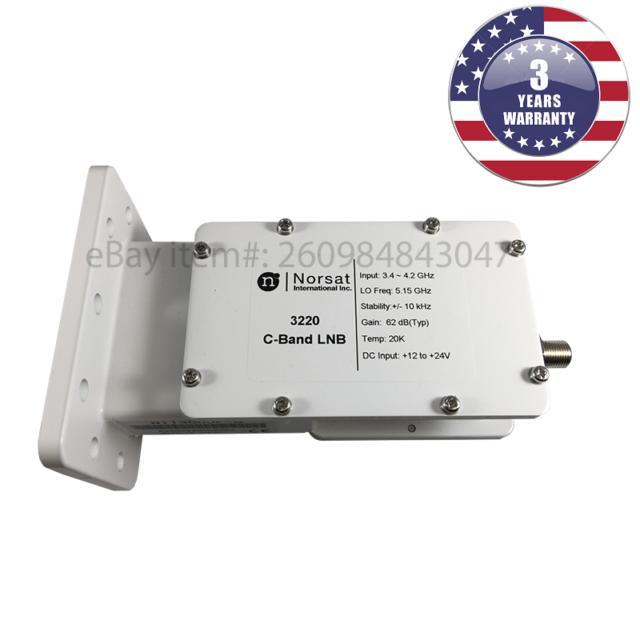 C-Band PLL LNB 3.4-4.2 GHz ±150 kHz Stability F Type 75 Ohm New Norsat 5150F