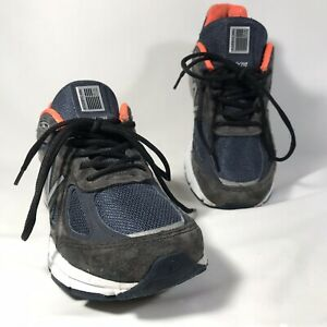 buy popular a4968 71a4e Details about New Balance 990v4 Suede Mens 7.5 Navy Blue Orange 3M Running  Shoes Trainers