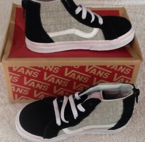 77c778cab4 Details about Vans Toddler Girls SK8-hi Zip Shimmer Jersey Shoes NIB