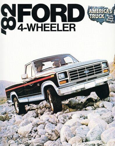 1982 Ford 4-Wheeler Pickup Trucks F-100 F-150 F-250 F-350 Dealer Sales Brochure