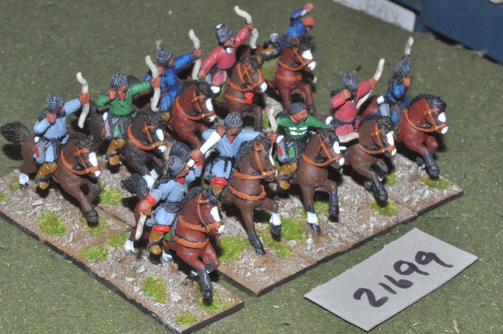 25mm medieval   turkish - seljuk turk horse archers 10 figs - cav (21699)