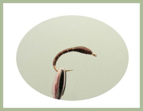 12 Pack Black Brown /& Olive Époxy Buzzers 10//12 pour pêche à la mouche Truites Mouches