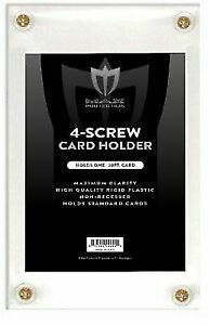 Lot-of-5-Max-Pro-4-Screw-NON-RECESSED-Baseball-Trading-Card-Screwdown-Holders