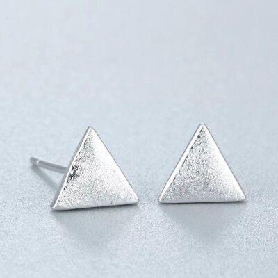 Neu 925-Silber Ohrstecker Designer Dreieck matt  Echt Silber
