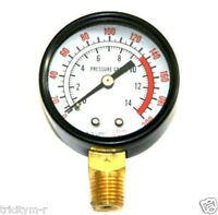 Air Compressor Gauge 2 200psi Dewalt Rolair 1/4 Npt Bottom Mount
