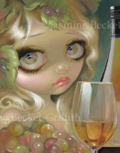 Jasmine-Becket-Griffith-art-print-SIGNED-wine-Spirits-of-the-Vine-Chardonnay