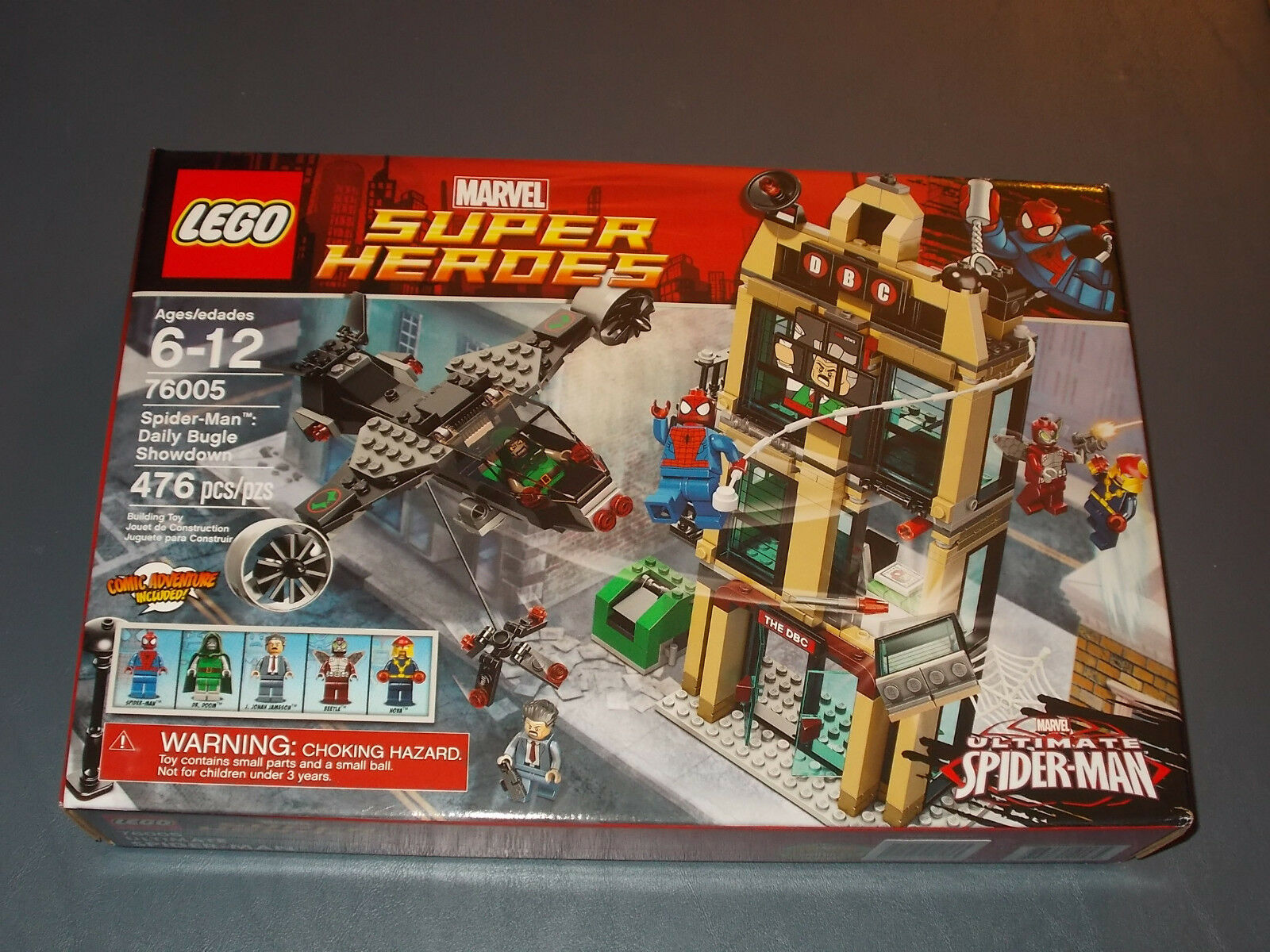 2013 LEGO ULTIMATE SPIDER-uomo 76005  DAILY BUGLE mostrareDOWN 476pcs NOVA & DR. DOOM  marchi di stilisti economici