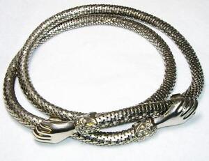 Antique-Victorian-034-Snake-034-belt-Figural-034-HAND-034-Fatima-Closure-40-034-Adjustable
