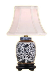 Chinese-Blue-and-White-Porcelain-Ginger-Jar-Twisted-Lotus-Table-Lamp-15-034