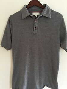 PRONTO-UOMO-Men-s-M-MEDIUM-Polo-Shirt-Gray-S-S-Cotton-Modal-Blend